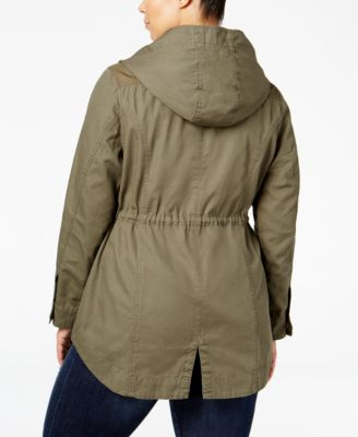 American Rag Trendy Plus Size Hooded A..