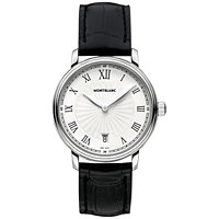 Montblanc Tradition Date White Guilloche Dial Men's Watch
