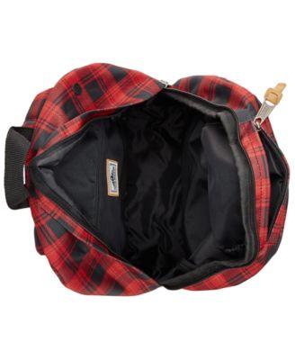 Steve Madden Mens Buffalo Plaid Classic Backpack