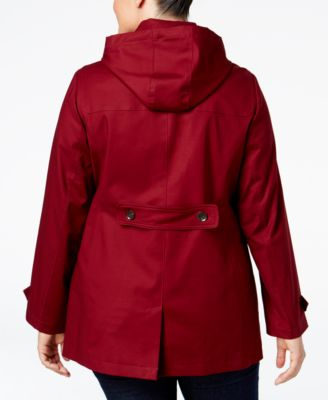 Charter Club Plus Size Toggle-Front Hooded Coat Image
