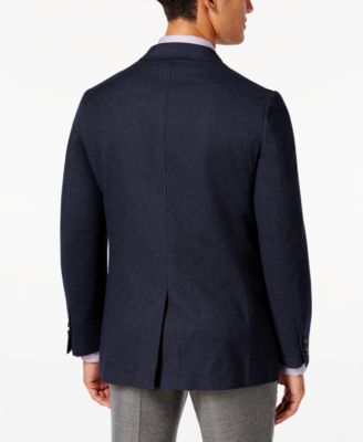Tommy Hilfiger Mens Slim-Fit Navy Diamond Geo Soft Sport Coat