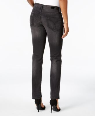 Calvin Klein Jeans Broke Black Wash Straight-Leg Jeans