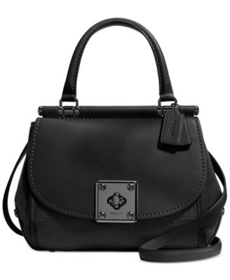 COACH Drifter Top Handle Satchel in Mixed Leather