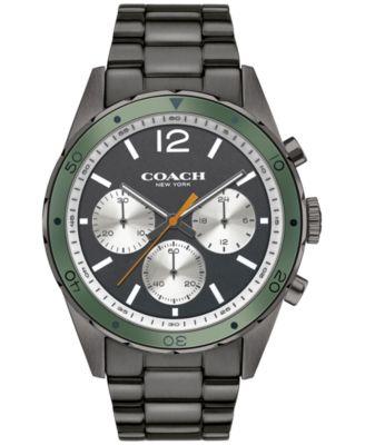 COACH Men's Chronograph Gunmetal Ion-Plated Bracelet Watch 44mm 14602118