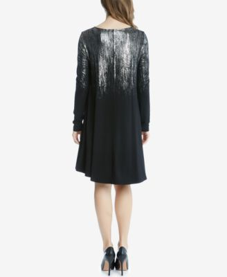 Karen Kane Metallic-Print Shift Dress