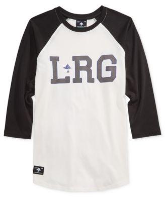 LRG Mens Graphic-Print Logo Raglan-Sleeve T-Shirt