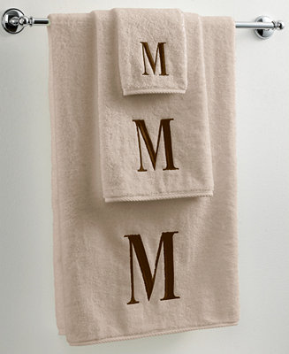 Avanti Bath Towels Monogram Initial Linen And Brown Collection Bath Towels Bed Bath Macy 39 S