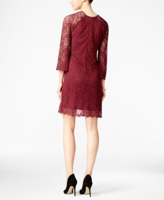 Jessica Simpson Lace Keyhole Shift Dress