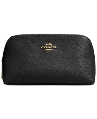 COACH Boxed Cosmetic Case 17 in Crossgrain Leather