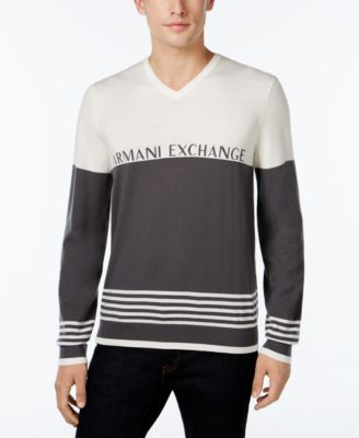 Armani Exchange Mens V-Neck Sweater