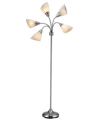 Adesso 5 light floor lamp lighting lamps for the for Macy s torchiere floor lamp