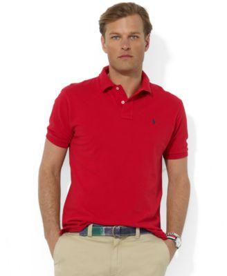 Polo Ralph Lauren Men\u0026#39;s Polo, Core Solid Classic Fit Mesh Polo