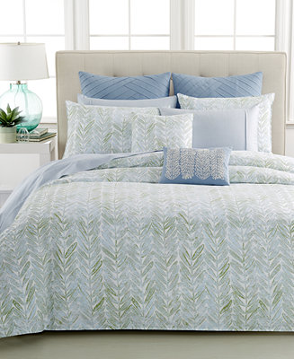 Closeout Barbara Barry Sea Leaves Collection Bedding Collections Bed Bath Macy 39 S