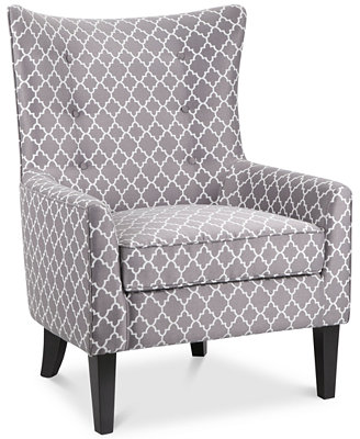 Brie Printed Fabric Accent Chair Direct Ship Furniture