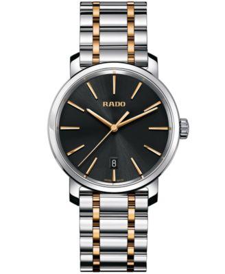 Rado Mens Swiss DiaMaster Two-Tone Stainless Steel Bracelet Watch 40mm R14078163