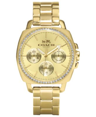 COACH WOMEN'S BOYFRIEND GOLD-PLATED BRACELET WATCH 40MM 14502080