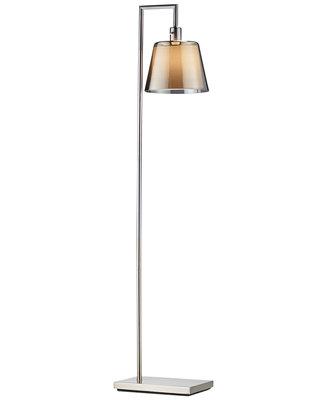 Adesso prescott arc floor lamp lighting lamps for for Macy s torchiere floor lamp