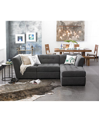 Roxanne Fabric Modular Living Room Furniture Collection Only At Macy 39 S