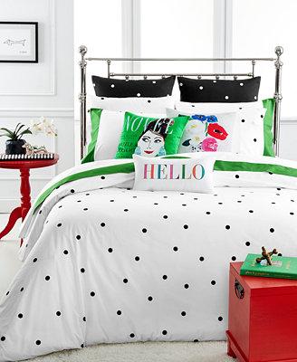 Kate Spade New York Deco Dot White Bedding Collection
