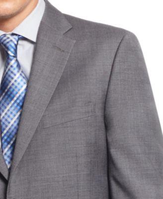 Tommy Hilfiger Medium Grey Sharkskin Classic-Fit Suit