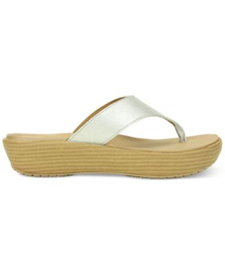 Crocs Womens A-Leigh Platform Thong Sl..