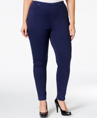 Style & Co. Plus Size Pull-On Twill Leggings, Only at Macy's
