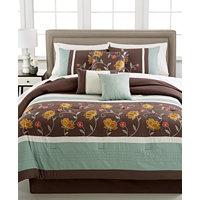 7-Piece Heather Embroidered Comforter Set