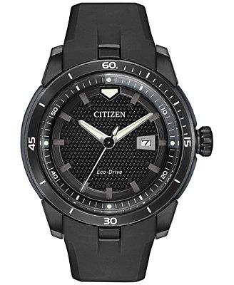 citizen s eco drive black 47mm aw1477 15e