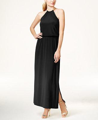 MSK Blouson Hardware Halter Maxi Dress - Dresses - Women ...