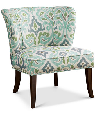 Janie Armless Accent Chair Direct Ship Furniture Macy S
