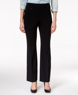 JM Collection Pull-On Boot Cut Pants