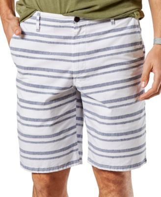Dockers Mens Striped Shorts Classic Fit