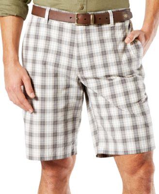 Dockers Mens Plaid Shorts Classic Fit