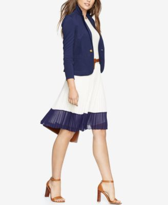 Lauren Ralph Lauren Colorblocked Pleat..