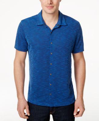 Alfani Mens Short-Sleeve Shirt