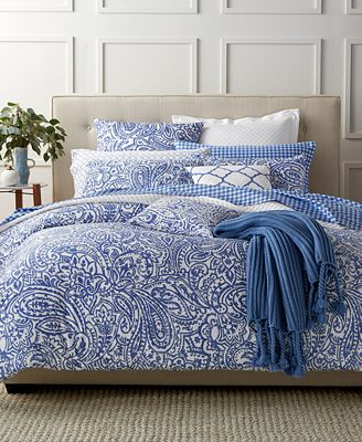 Charter Club Damask Designs Paisley Denim Full Queen