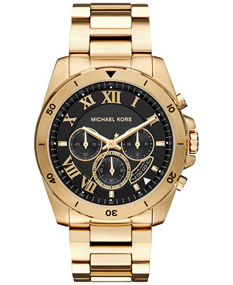 michael kors s chronograph brecken gold tone stainless