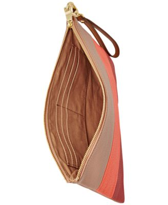 Fossil Leather Patchwork Wristlet