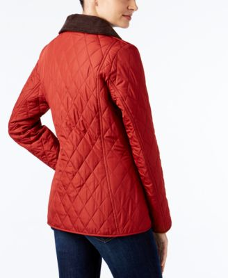 Barbour Montrose Corduroy-Collar Quilted Coat