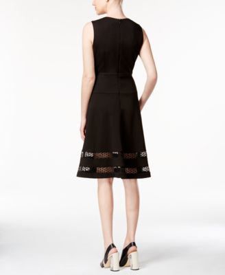 Calvin Klein Illusion-Hem Fit & Flare ..
