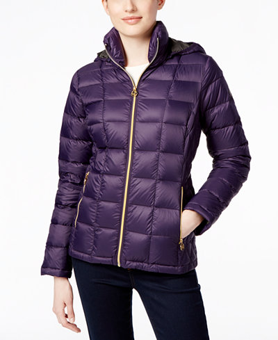 Michael Michael Kors Quilted Packable Down Puffer Coat