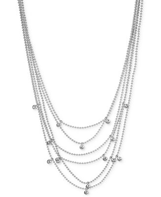 Kenneth Cole New York Silver-Tone Multi-Chain Beaded