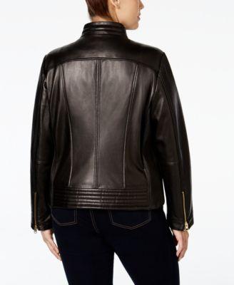 MICHAEL Michael Kors Plus Size Leather..