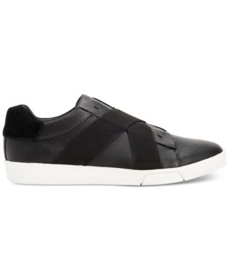 Calvin Klein Mens Baku Tumbled Leather Sneakers