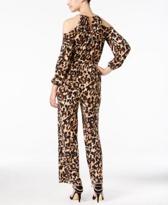 Thalia Sodi Leopard-Print Cold-Shoulde..