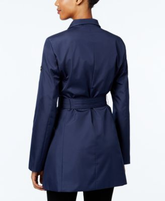 Calvin Klein Asymmetrical Belted Water Resistant Trench Coat