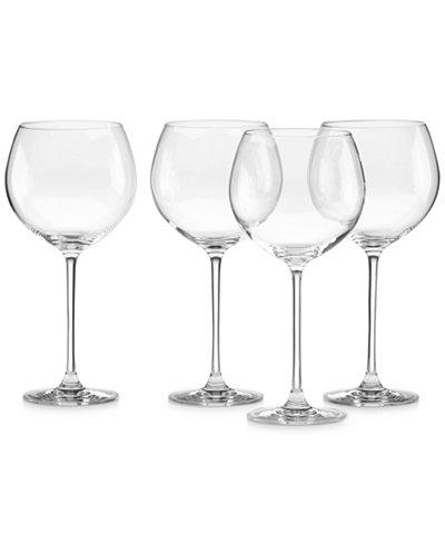 Lenox stemware tuscany classics grand beaujolais set of 4 all glassware drinkware dining - Lenox colored wine glasses ...
