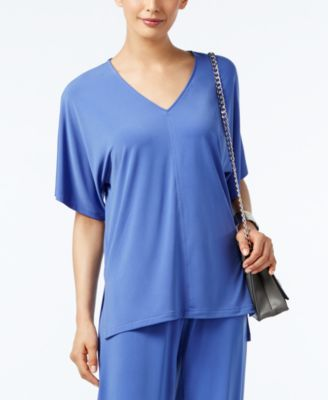 Alfani V-Neck High-Low Top