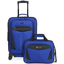 Travel Select Nampa 2 Piece Luggage Set (Blue,Black)