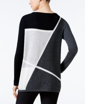 Charter Club Cashmere Colorblocked Swe..